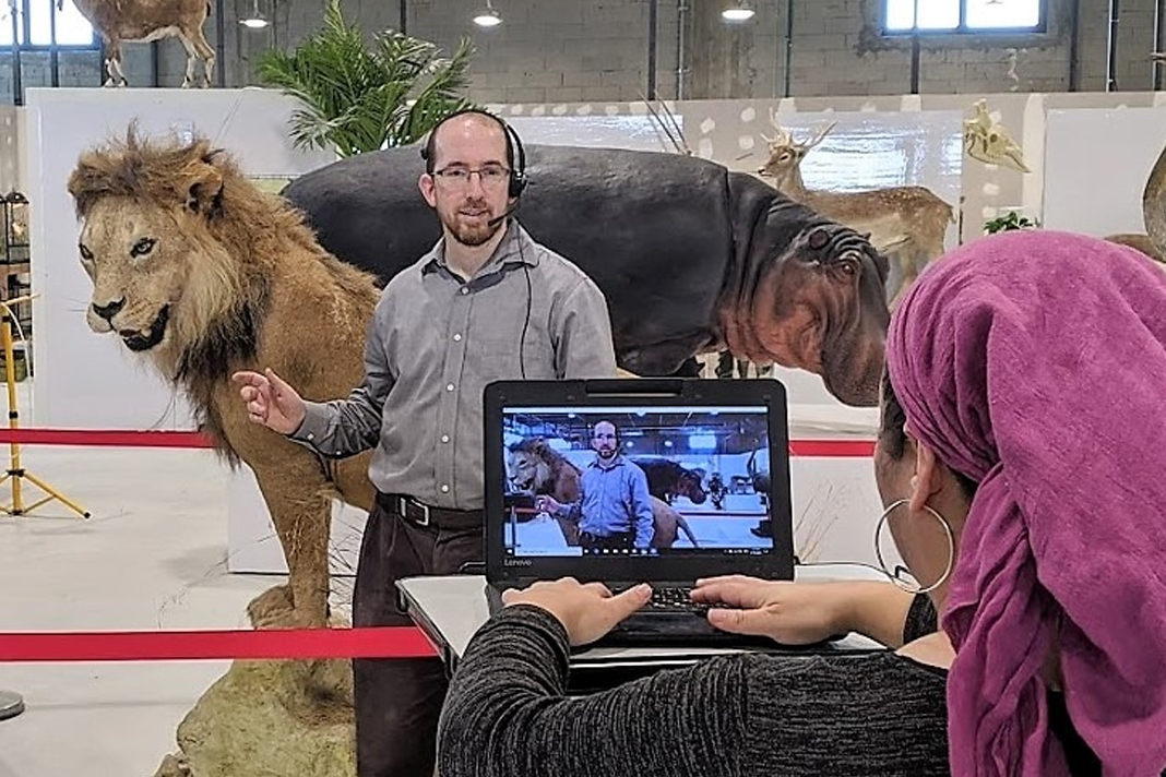 Orthodox Rabbi Natan Slifkin give an online tour of his new museum. Photo courtesy of the Biblical Museum of Natural History (BMoNH).