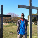 Blessing Marunga at the crosses at Fountain Vineyard Christian Fellwoship, Port Elizabeth, where believers will unite in prayer for revival for an hour every day from August 1 to October 31