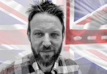 Rev. Matt Timms an England Flag