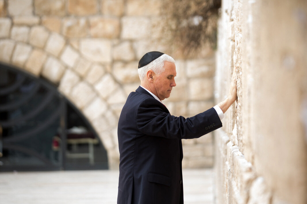 Vice President Mike Pence during a 2018 trip to Israel. White House photo.