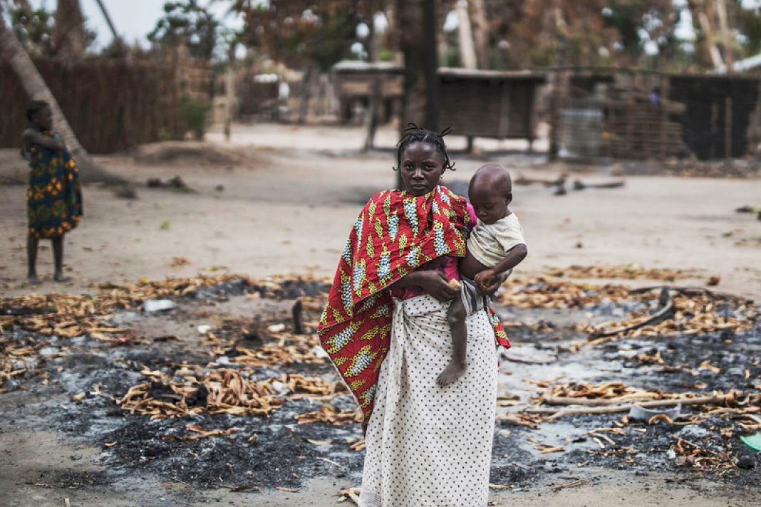 The village of Aldeia da Paz, in Mozambique, was attacked by Islamist terrorists. (Marco Longari / AFP)