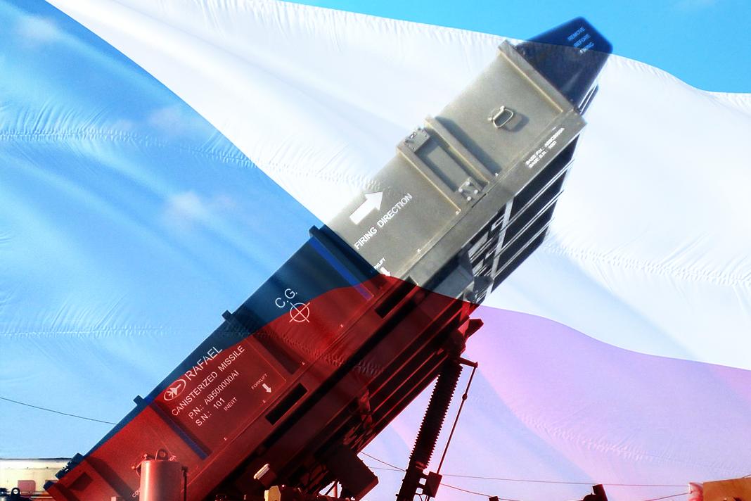 Czech Republic flag and SPYDER launcher