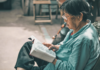 Chinese Woman reading