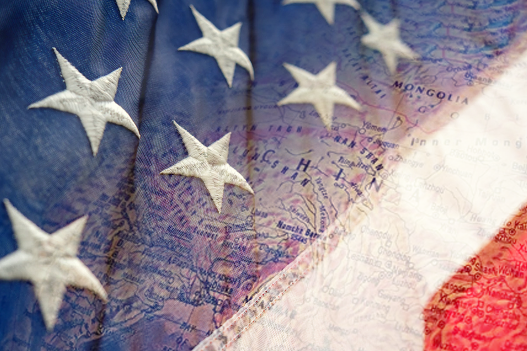 china and America flag