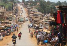 Road in Mukono, Uganda