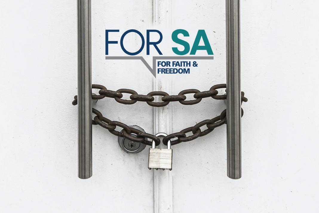 Locked door and FOR SA Logo