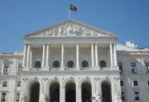 Portuguese Parliament building front fachade