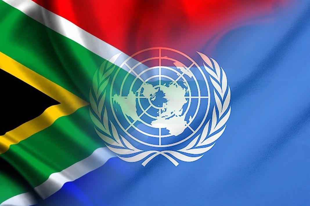 UN and SA Flag