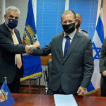 IDF Brig.-Gen. (res.) Yair Kulas (right) and Theodoros Lagios, director-general of the Greek General Directorate for Defense. (Hellenic Ministry of Defense)