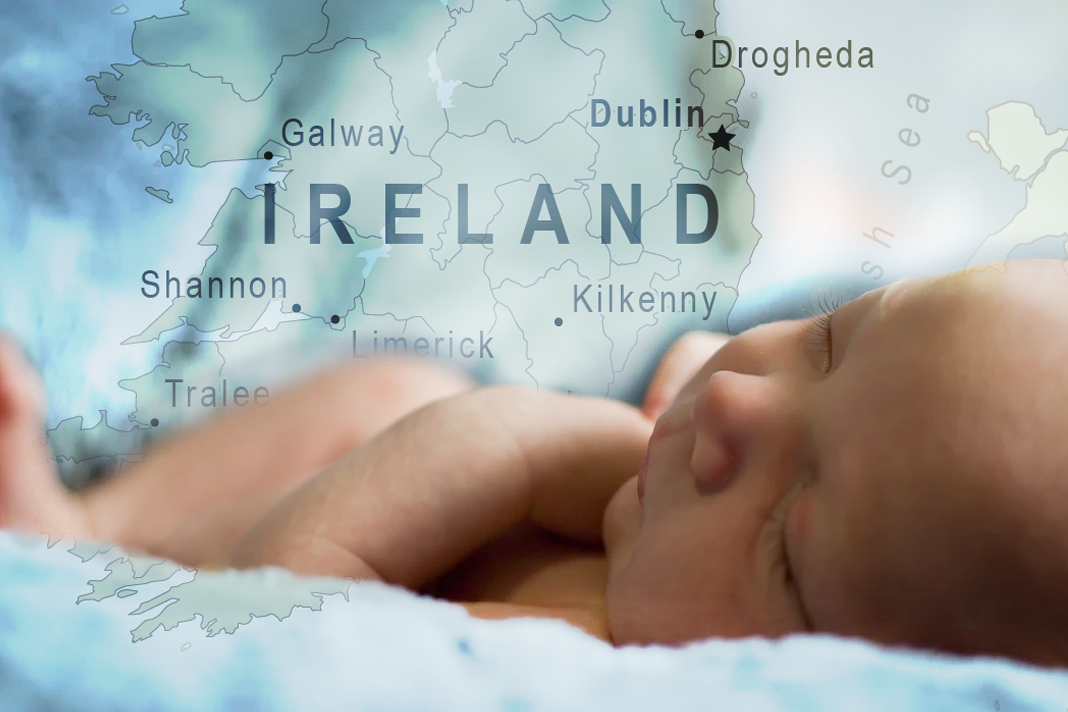 Baby With map of Ireland