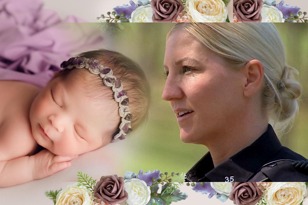 Kristin Mitrisin and Schleicher baby