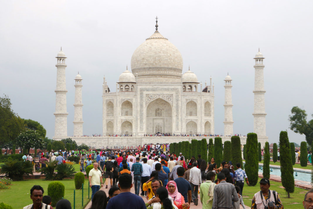 The Taj Mahal, one of India's most popular tourist attractions, is visited by thousands of tourists every year.