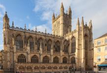 Abadía de Bath, Inglaterra,