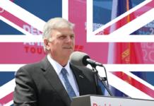 Rev. Franklin Graham and UK flag