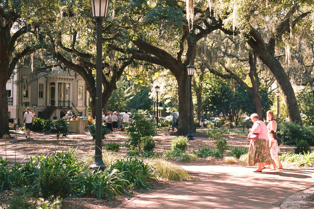 Savannah, GA, USA Published on September 22, 2020 Free to use under the Unsplash License Savannah, Georgia town square with mother, daughter, and grandmother