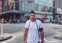 Pro-Israel influencer Rudy Rochman in NYC, Oct. 4, 2019. (Twitter)