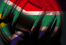 Gavel and South African Flag