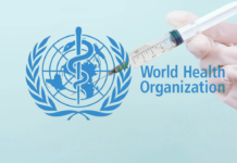 World Health organisation logo and Injection