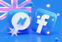social media icons and Australian Flag