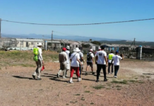 Group participating in Nehemiah Prayer Route which traverses Nelson Mandela Bay