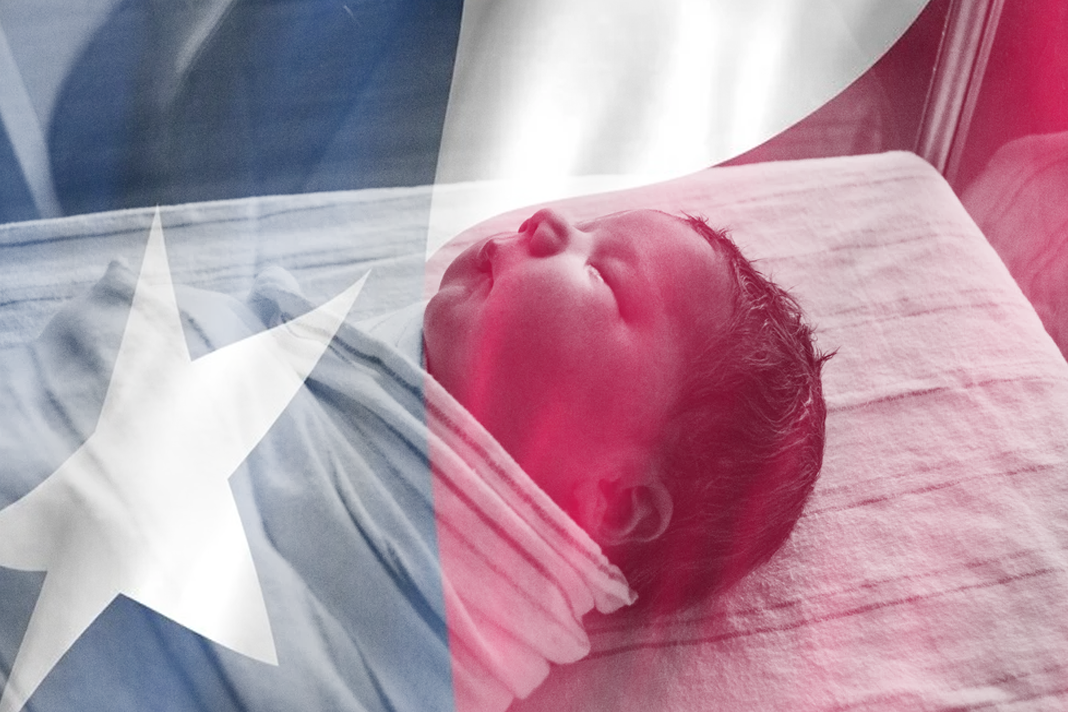 baby and Texas Flag